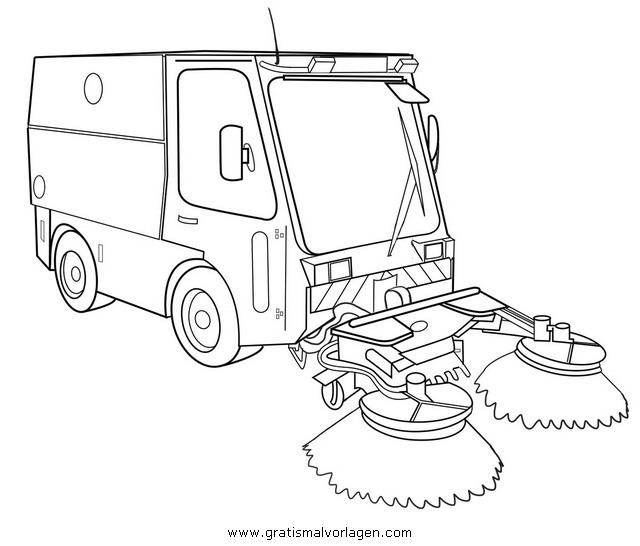 Kehrmaschine Gratis Malvorlage In Beliebt12 Diverse Malvorlagen