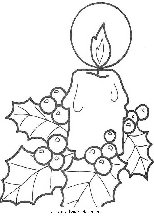 kerze 10 gratis malvorlage in kerzen weihnachten  ausmalen