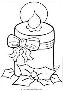 kerze 11 gratis malvorlage in kerzen, weihnachten - ausmalen