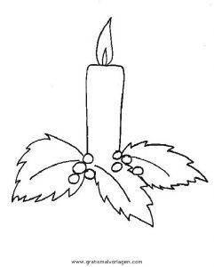 Kerze 12 Gratis Malvorlage In Kerzen Weihnachten Ausmalen