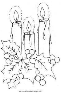 kerze 14 gratis malvorlage in kerzen, weihnachten - ausmalen
