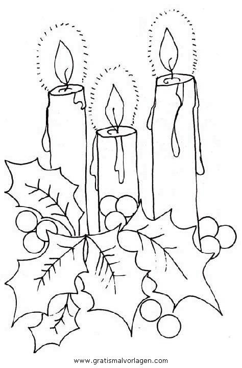 kerze 14 gratis malvorlage in kerzen weihnachten  ausmalen
