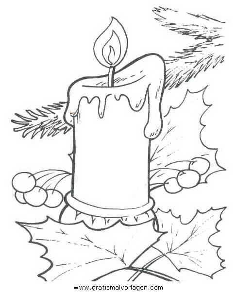 kerze 16 gratis malvorlage in kerzen weihnachten  ausmalen