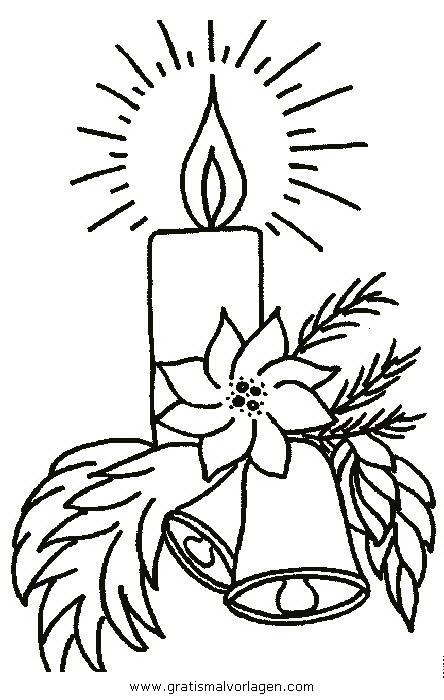 kerze 34 gratis malvorlage in kerzen weihnachten  ausmalen
