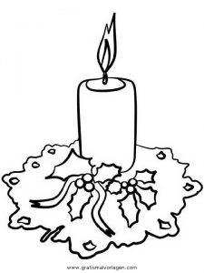 Kerze 43 Gratis Malvorlage In Kerzen Weihnachten Ausmalen