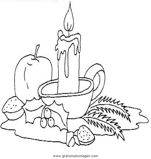 Kerzen Malvorlagen Zum Ausmalen Für Kinder