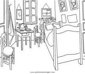 Malvorlage Betten Kinderzimmer 3
