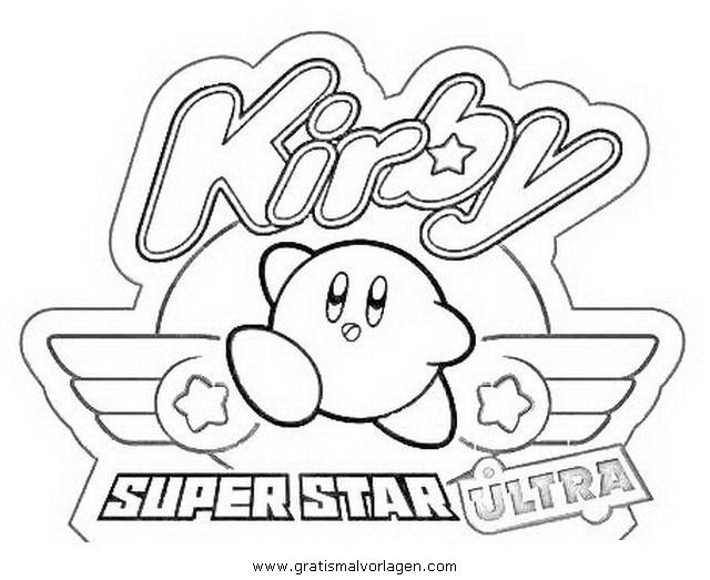 Galupy 1 Gratis Malvorlage In Comic Trickfilmfiguren: Kirby 1 Gratis Malvorlage In Beliebt03, Diverse