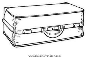 Koffer 1 Gratis Malvorlage In Beliebt02 Diverse Malvorlagen Ausmalen