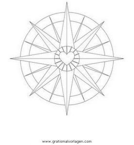 Malvorlage Beliebt03 kompass 3