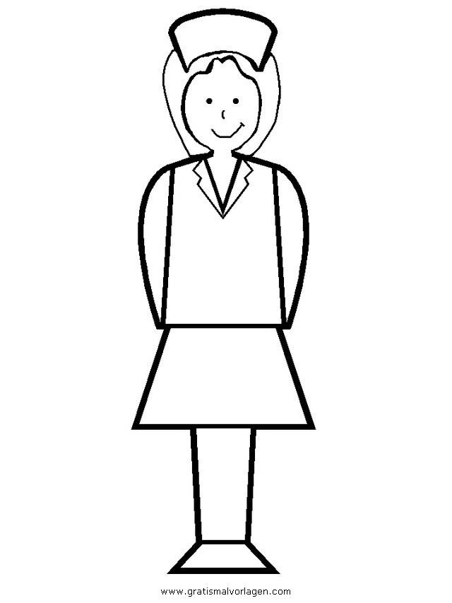 krankenschwester 14 gratis Malvorlage in Diverse Malvorlagen ...