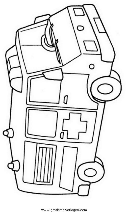 krankenwagen 1 gratis malvorlage in lastwagen