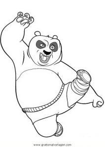 Kungfupanda 50 Gratis Malvorlage In Comic Trickfilmfiguren Kung