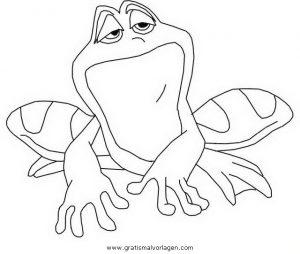 kuss den frosch 09 gratis Malvorlage in Comic & Trickfilmfiguren