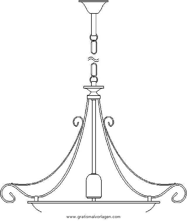 lampe 9 gratis malvorlage in diverse malvorlagen möbel