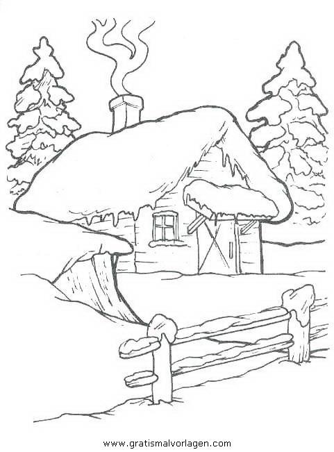 landschaften 20 gratis Malvorlage in Weihnachten ...
