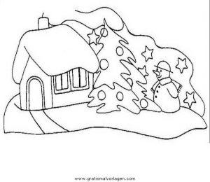 Malvorlage Weihnachtslandschaften landschaften 26