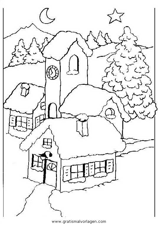 landschaften 29 gratis malvorlage in weihnachten