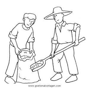 Landwirtschaft 3 Gratis Malvorlage In Berufe Handwerk Menschen