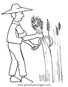 Landwirtschaft 5 Gratis Malvorlage In Berufe Handwerk Menschen