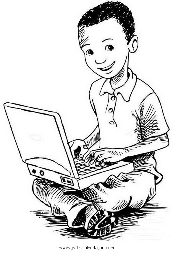 laptop 1 gratis malvorlage in computer diverse