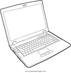 Laptop 2 Gratis Malvorlage In Computer Diverse Malvorlagen Ausmalen