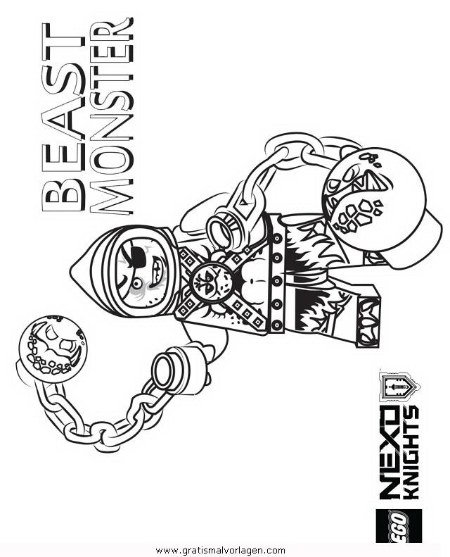 lego nexo knights 22 gratis malvorlage in comic