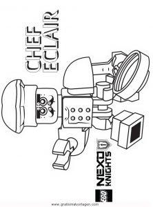 Lego Nexo Knights 23 Gratis Malvorlage In Comic Trickfilmfiguren