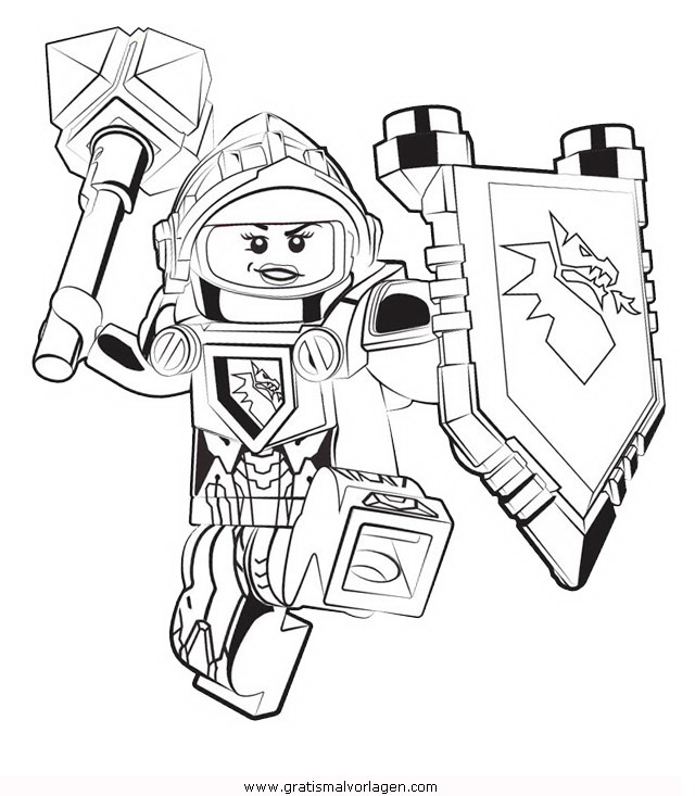 Lego Nexo Knights 40 Gratis Malvorlage In Comic Trickfilmfiguren