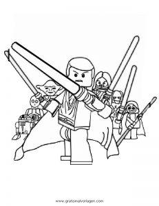 Lego Star Wars 07 Gratis Malvorlage In Comic Trickfilmfiguren