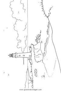 leuchtturm gratis malvorlage in diverse malvorlagen, landschaft - ausmalen