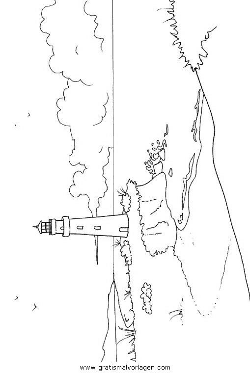 Leuchtturm Gratis Malvorlage In Diverse Malvorlagen Landschaft
