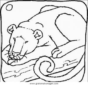 Malvorlage Löwen lowen 002