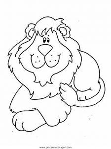 Lowen 006 Gratis Malvorlage In Löwen Tiere Ausmalen