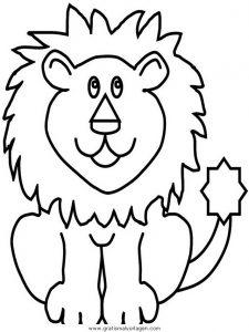 Lowen 017 Gratis Malvorlage In Löwen Tiere Ausmalen