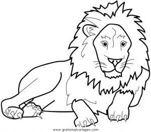 Lowen 021 Gratis Malvorlage In Löwen Tiere Ausmalen