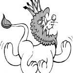 Löwe zum ausmalen