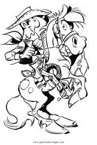 Lucky Luke 21 Gratis Malvorlage In Comic Trickfilmfiguren Lucky