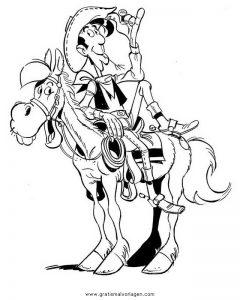 Lucky Luke 25 Gratis Malvorlage In Comic Trickfilmfiguren Lucky