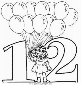 Luftballon 22 Gratis Malvorlage In Feste Geburtstag Ausmalen