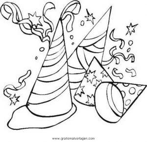 Luftschlangen 04 Gratis Malvorlage In Feste Silvester Ausmalen