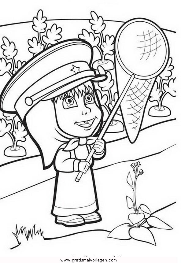 macha mascha 03 gratis malvorlage in comic