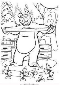 Malvorlage Mascha und der Bär macha orso 19