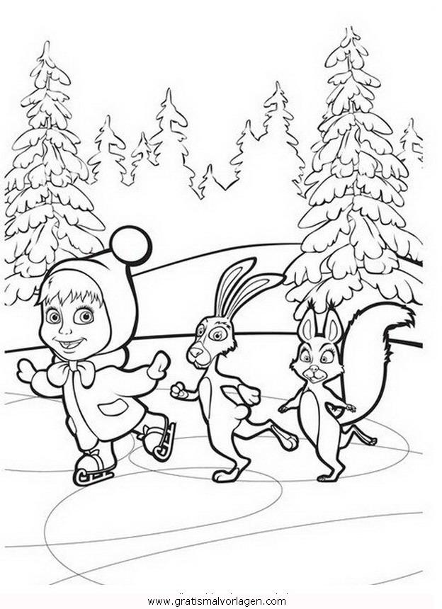 macha orso 25 gratis malvorlage in comic