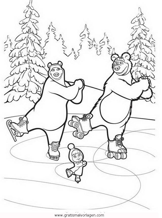 macha orso 26 gratis malvorlage in comic