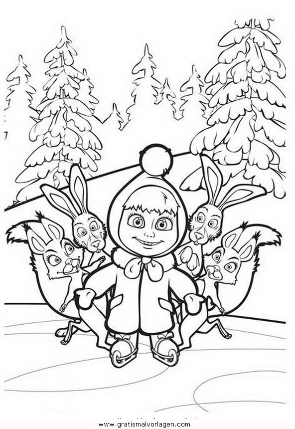 macha orso 29 gratis malvorlage in comic