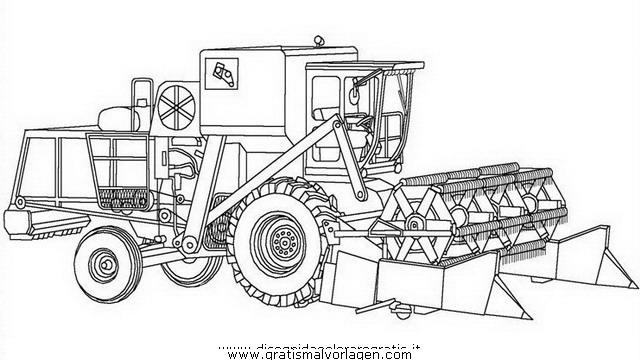 Mahdrescher 1 Gratis Malvorlage In Baumaschinen Transportmittel