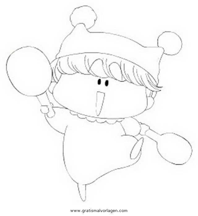 Galupy 1 Gratis Malvorlage In Comic Trickfilmfiguren: Manga Anime Mirmo 1 Gratis Malvorlage In Animes, Comic