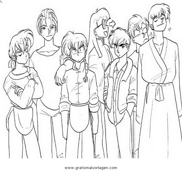 Manga Ranma 2 Gratis Malvorlage In Comic