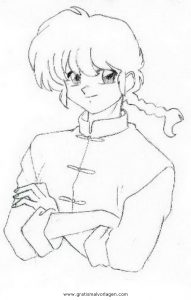 Malvorlage Manga manga ranma 7